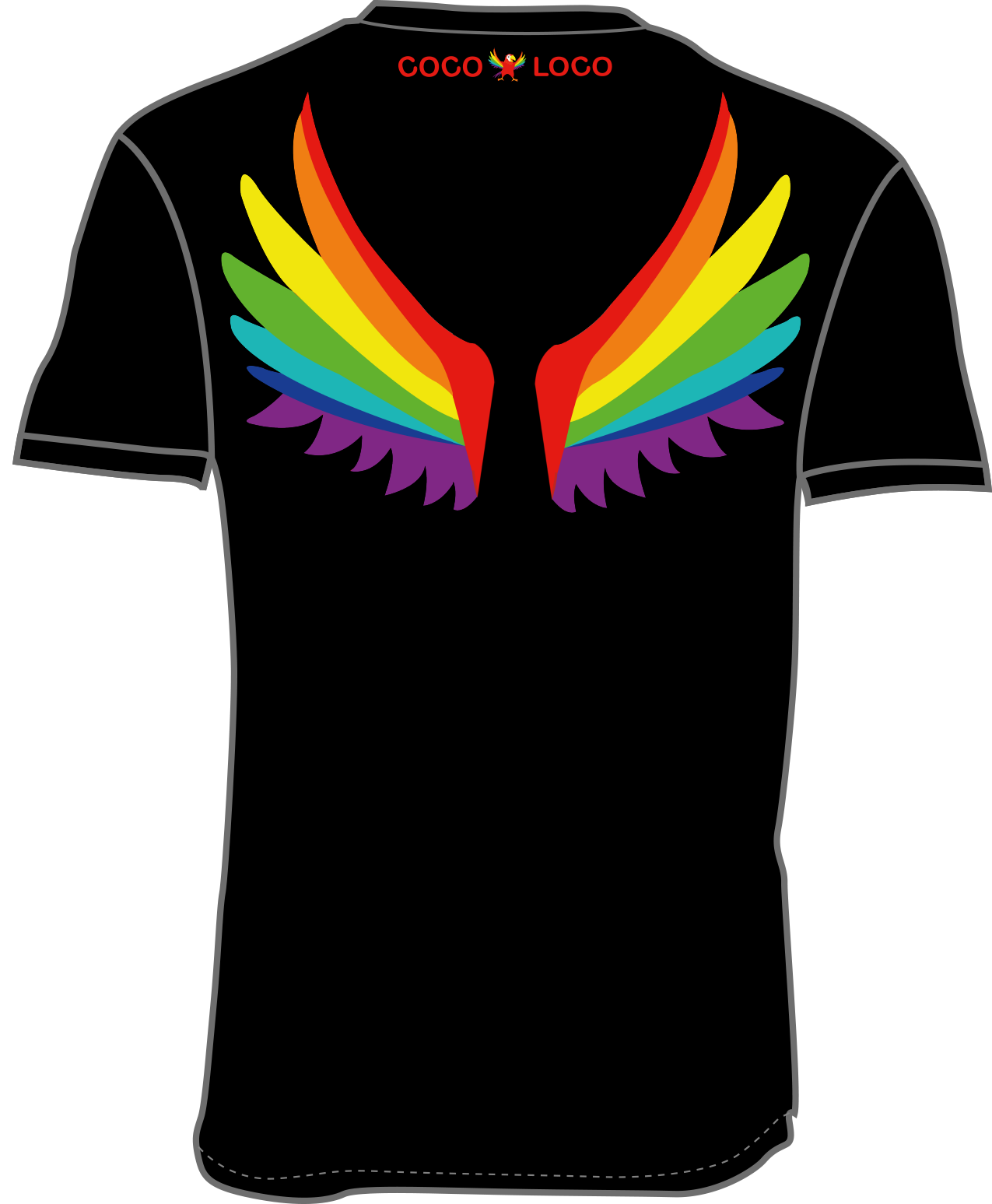 Coco Loco wings T-shirt