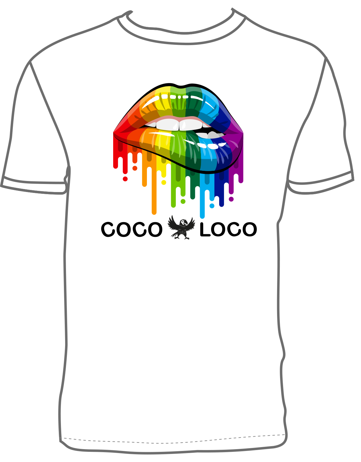 Coco Loco Pride T-shirt - White