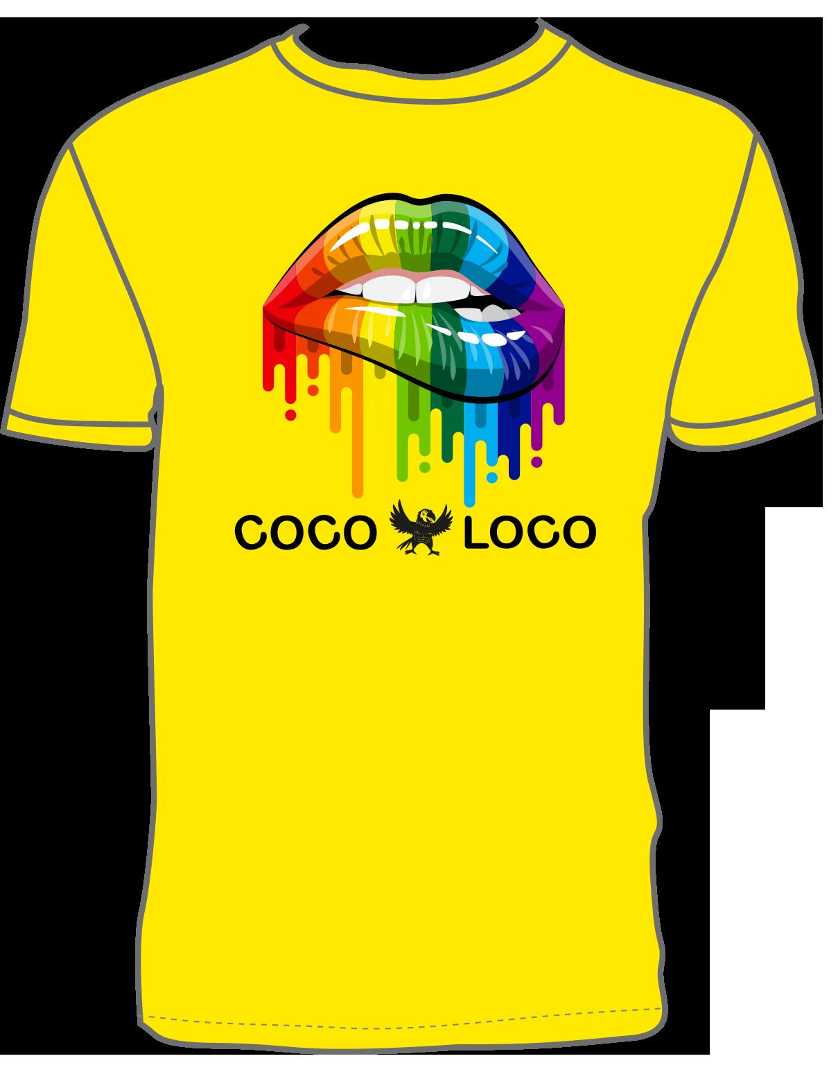 Coco Loco Pride T-shirt - Yellow