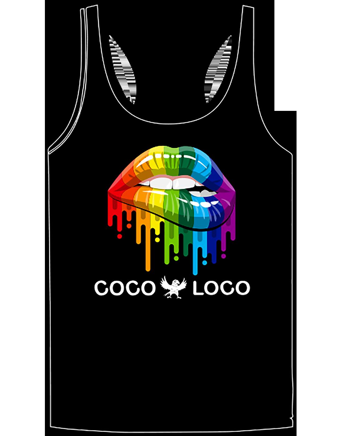 Coco Loco Pride Tank Top Black
